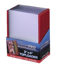 Ultra Pro: Toploaders - 3x4 Red Border
