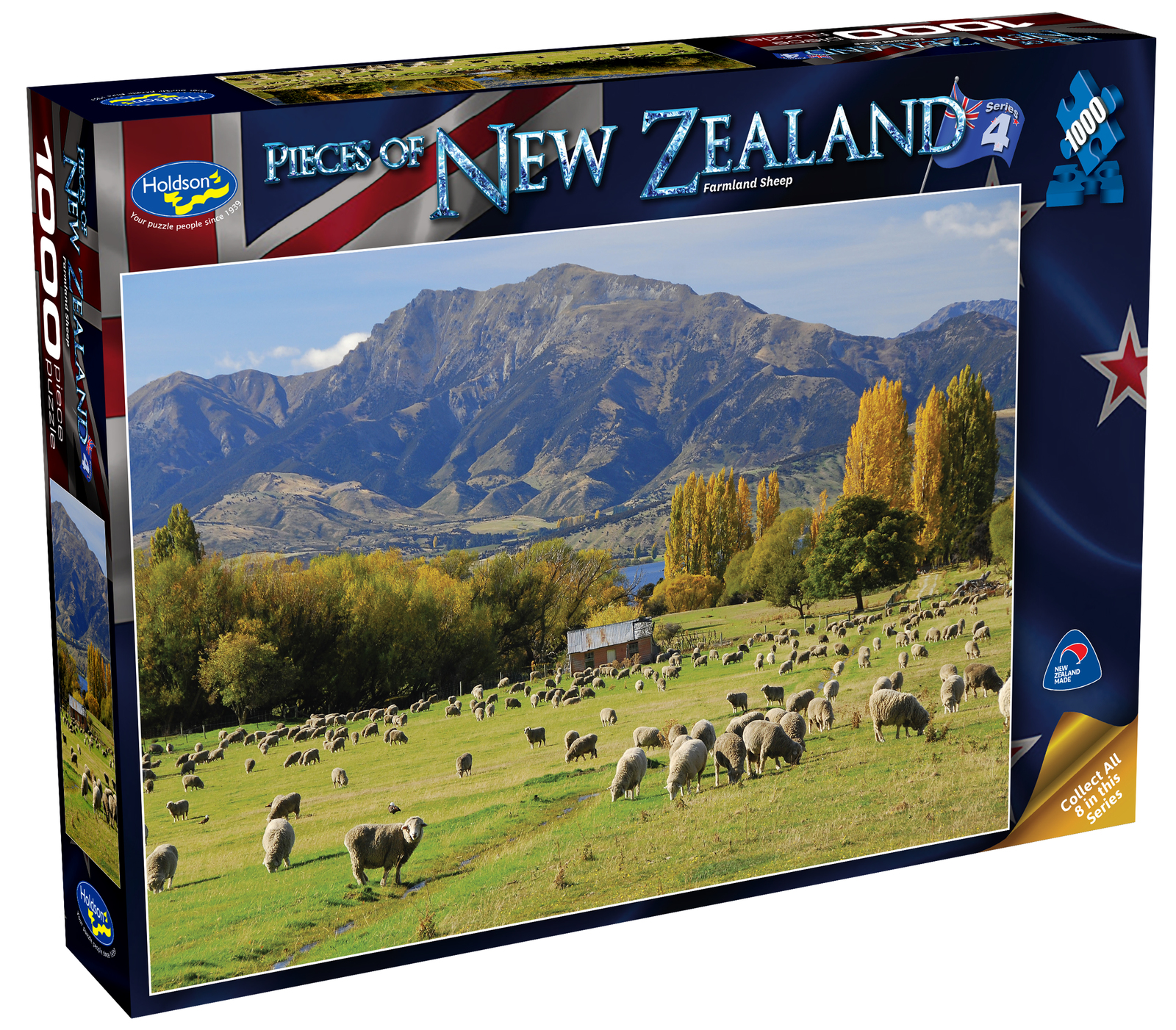 Holdson: Pieces of New Zealand - Series 4 - Farmland Sheep - 1000 Piece Puzzle image
