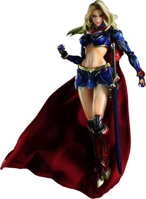 Superman Play Arts Kai Supergirl Variant Action Figure