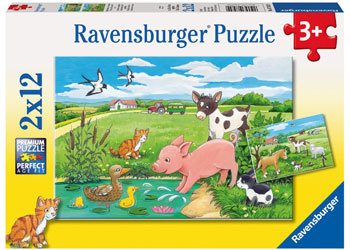 Ravensburger - Baby Farm Animals Puzzle (2x12pc)