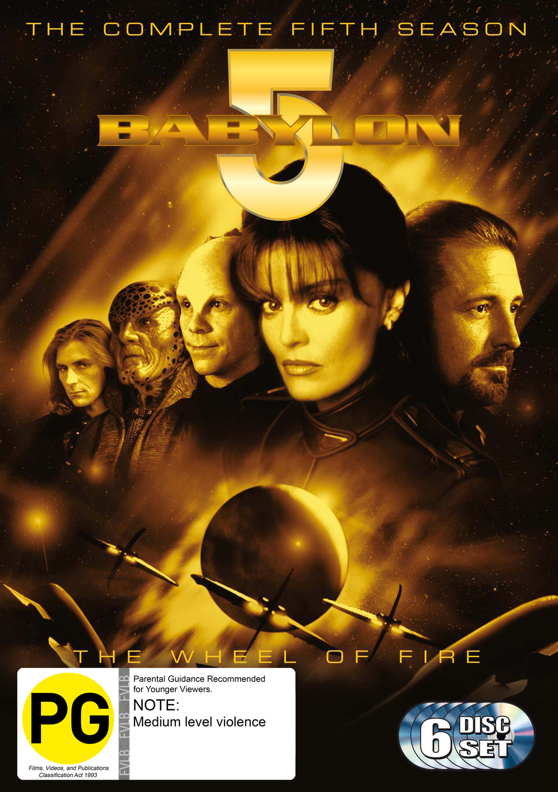 Babylon 5 - Season 5 (6 Disc Set) on DVD image