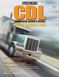 Barron's CDL Commercial Driver's License Truck Driver's Test by Mike Byrnes image