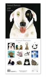 Animal Portraits 2018 Wall Calendar