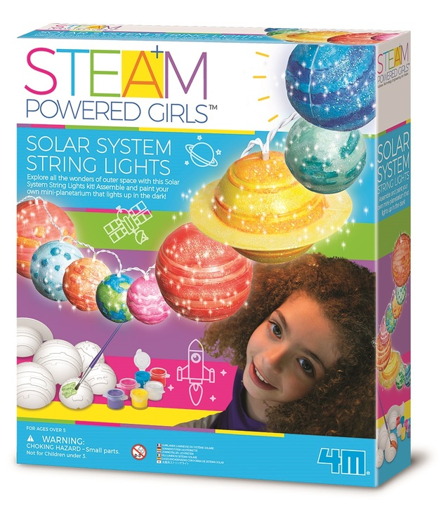 4M STEAM Girls: Solar System String Lights Science Kit