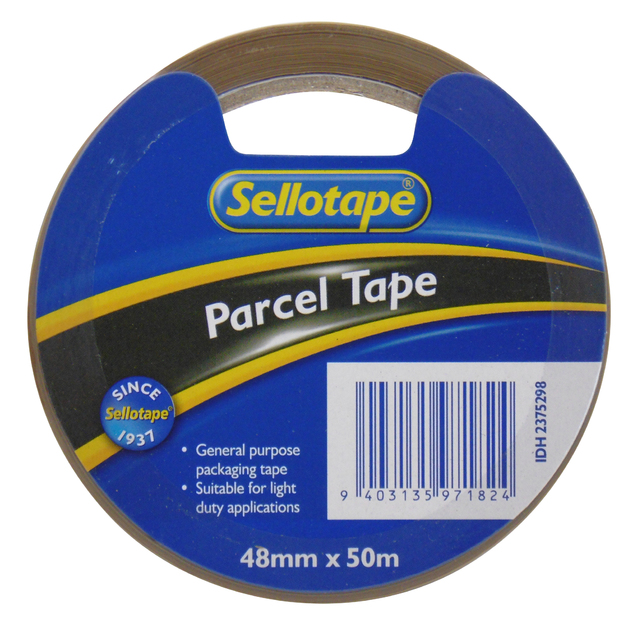 Sellotape: Economy Parcel Tape - Brown (48mmx50m)