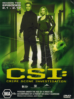 CSI: Crime Scene Investigation Season Two Episodes 2.1-2.12 (3 Disc Set) on DVD