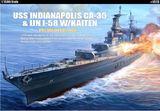 Academy USS Indianopolis CA-35 & IJN I-58 W/Kaiten 1/350 Model Kit Set
