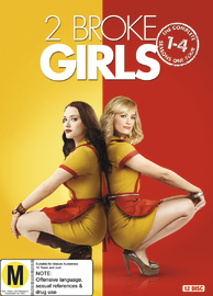 2 Broke Girls - Season 1-4 DVD