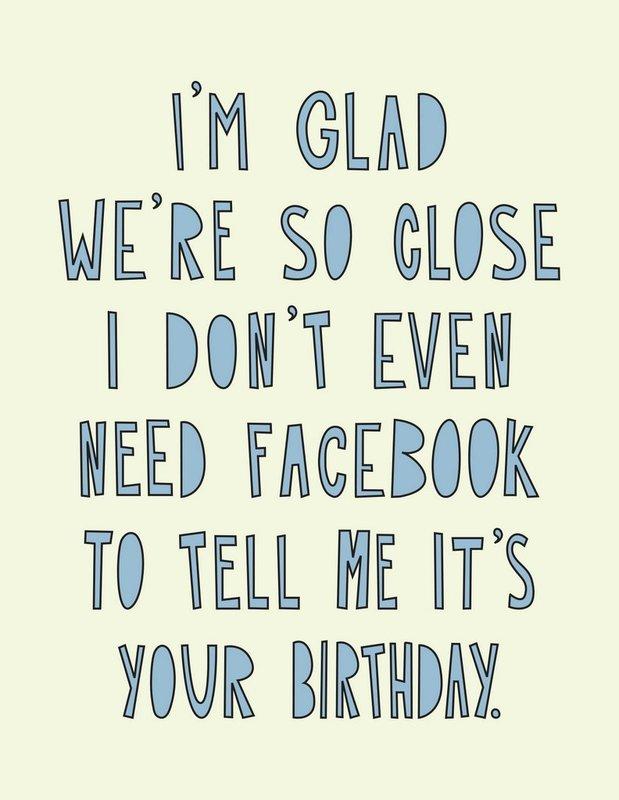 Near Modern Disaster: Facebook Birthday - Greeting Card