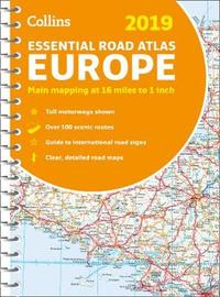 2019 Collins Essential Road Atlas Europe by Collins Maps