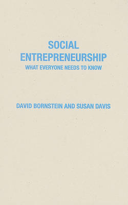Social Entrepreneurship by David Bornstein image