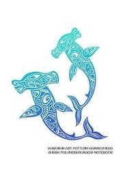 Hawaiian Art Pattern Hammerhead Shark Polynesian Maori Notebook by Delsee Notebooks image
