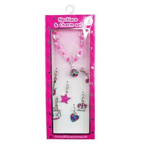 Pink Poppy: Diva Charm Necklace Set