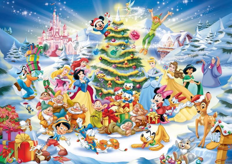 Ravensburger 1000 Piece JIgsaw Puzzle - Disney Christmas Eve image
