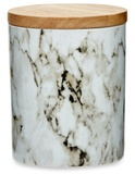 Me & My Trend Tall Marble Canister - White & Gold