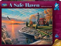 Holdson: 1000 Piece Puzzle A Safe Haven Lighthouse at Sunset