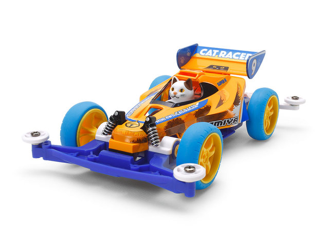Tamiya Mini 4WD JR Cat Racer LTD EDITION CAR W/CAT - Super II Chassis