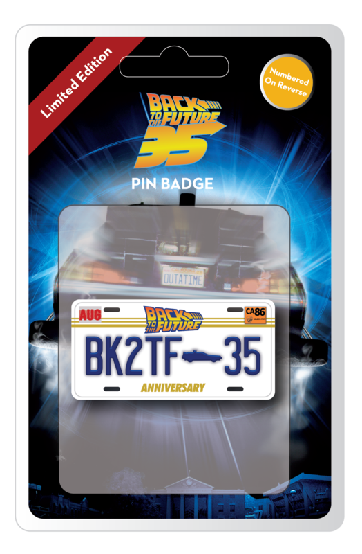 Back to the Future: Large Pin Badge - 35th Anniversary (Limited Edition)