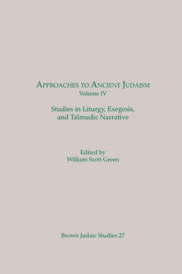Approaches to Ancient Judaism, Volume IV image