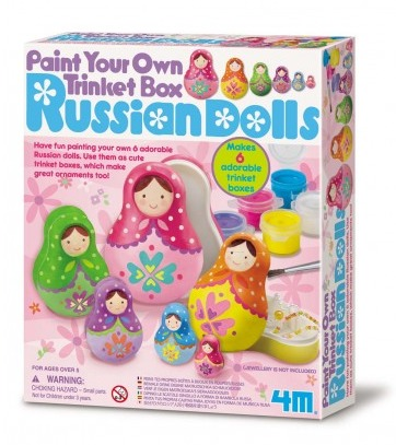 4M: Craft Paint Your Own Russian Doll Trinket Box image