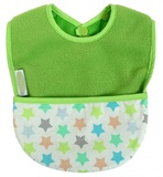 Silly Billyz Fleece Pocket Bib (Lime Stella)