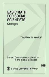 Basic Math for Social Scientists by Timothy M Hagle image