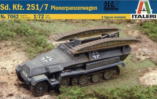 1/72 Sd kfz 251/7 Panzerwagen - Model Kit | at Mighty Ape NZ