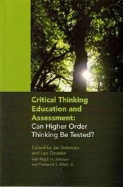 Critical Thinking Education and Assessment by Jan Sobocan image