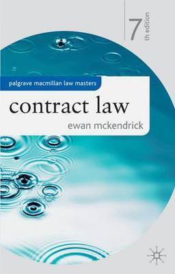 Contract Law by Ewan McKendrick