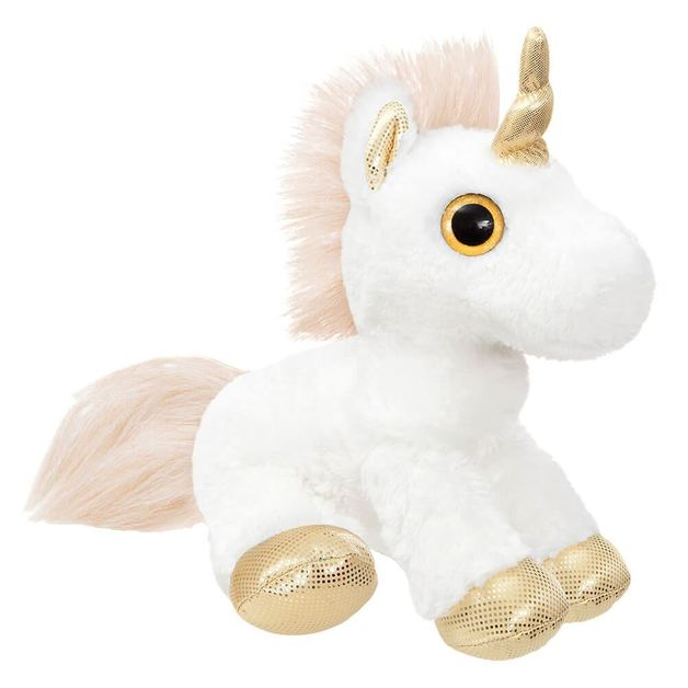 """Aurora: Gold Unicorn - 12"""" Plush"""