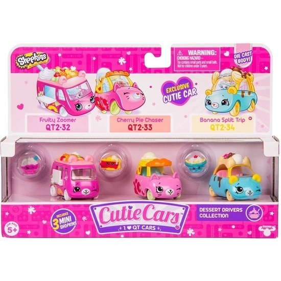 Shopkins: Cutie Car 3-Pack - Dessert Drivers image