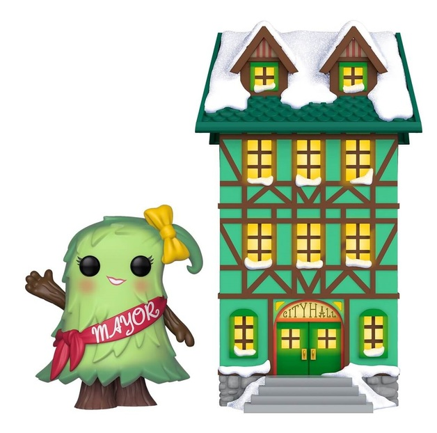 Peppermint Lane: Patty Noble & Town Hall - Pop! Town Diorama Set