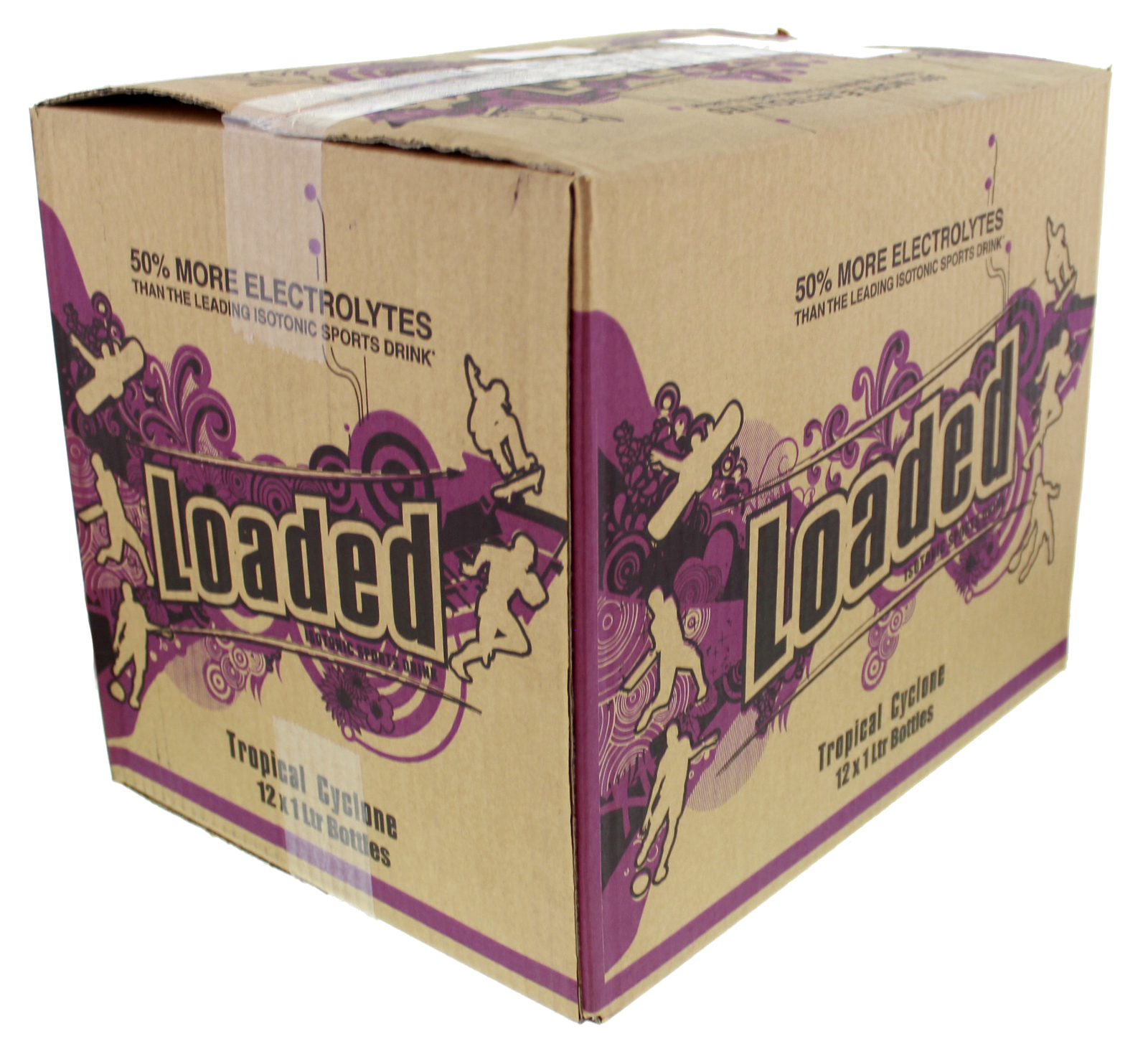 Loaded Sports Drink - Tropical Cyclone 1L (12 Pack) image