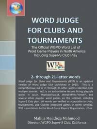 Word Judge for Clubs and Tournaments by Maliha Mendoza Mahmood