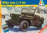Italeri: 1:24 Willys Jeep with PRM - Model Kit