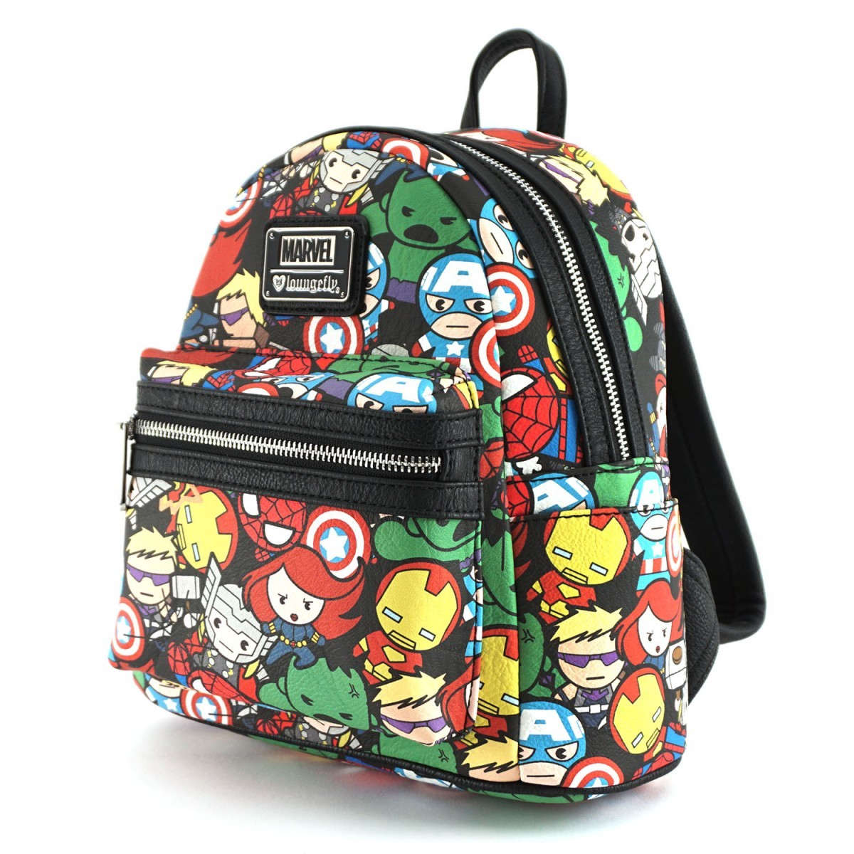 ... Loungefly Marvel Avengers Kawaii Print Mini Backpack image d453d18d48242
