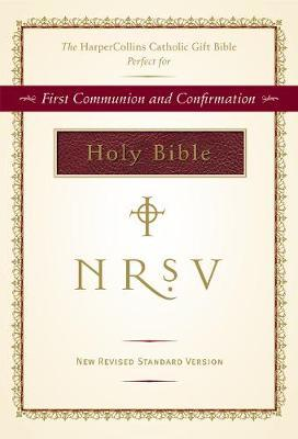 NRSV, The HarperCollins Catholic Gift Bible, Imitation Leather, Burgundy by Zondervan image