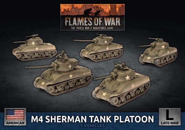 Flames of War: M4 Sherman - Tank Platoon (Plastic)