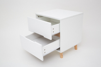 Bedside Table Nightstand - White