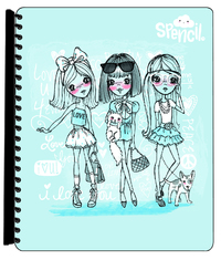 Spencil: A4 Display Book - Fashion Friends (20 Pocket)