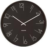 Karlsson Wall Clock - Elegant Numbers: Black