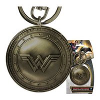 Batman v Superman: Wonder Woman Brass Shield - Pewter Key Chain