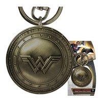 Batman v Superman: Wonder Woman Brass Shield - Pewter Key Chain image