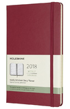 Moleskine Large Hard Cover 12 Month Weekly Planner - Berry Rose