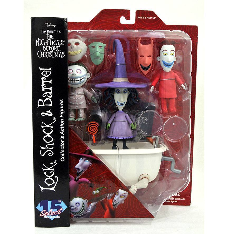 NBX: Select Series 3 - Lock, Shock and Barrel Figure Set image