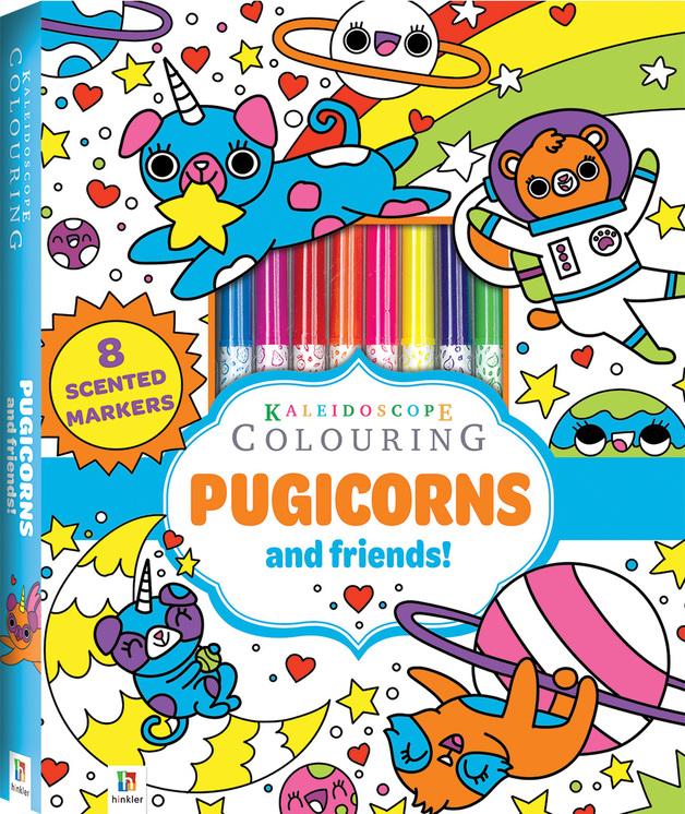 Kaleidoscope: Colouring Kit - Pugicorns and More