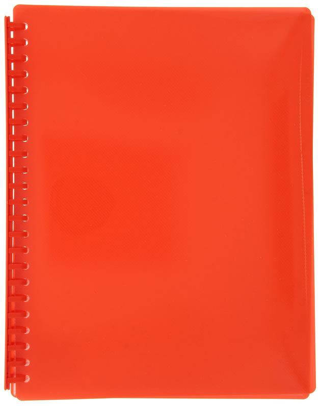 FM A4 20 Pocket Refillable Display Book - Burnt Orange