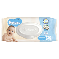 Huggies Baby Wipes Refill Pack - Coconut (80 Wipes)