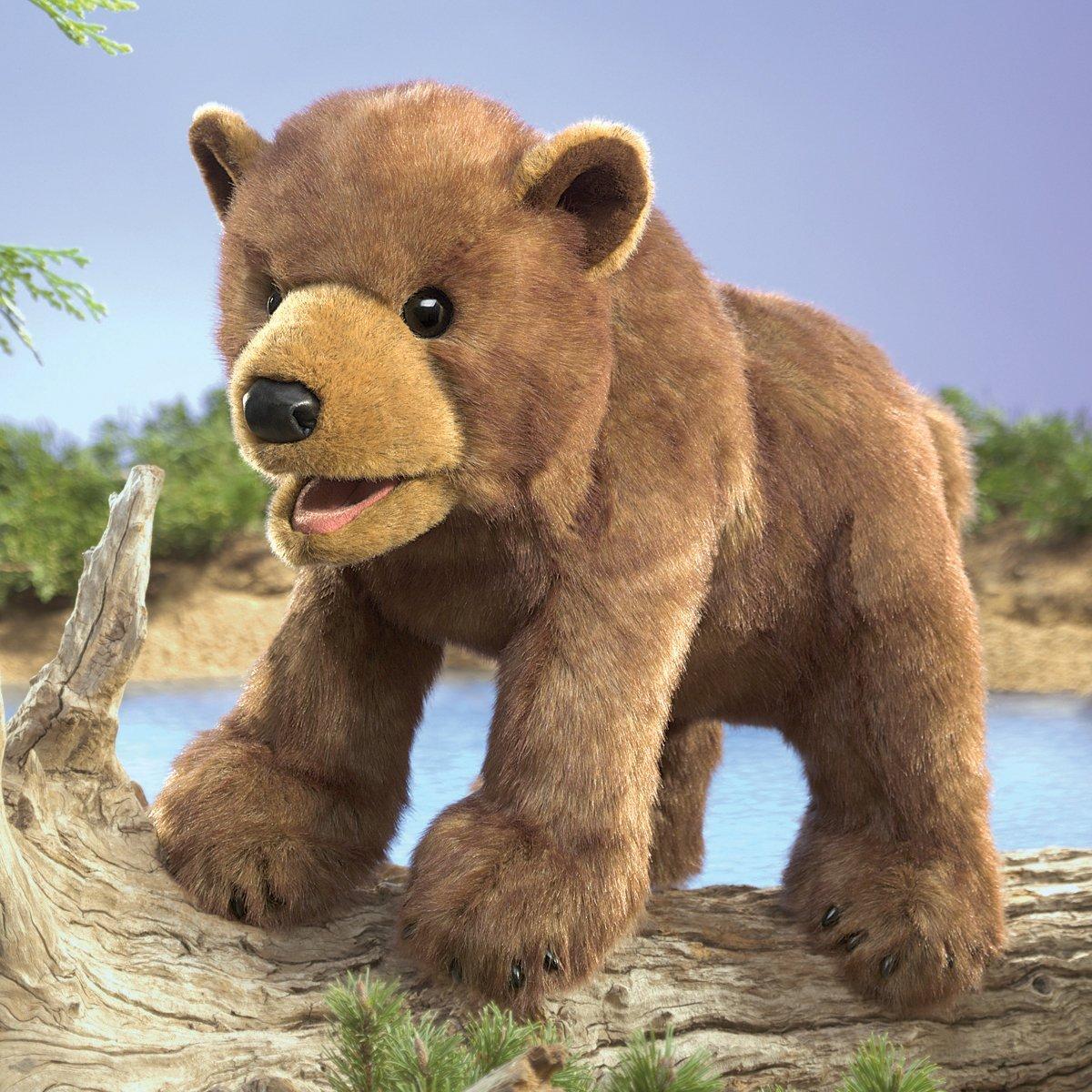 Folkmanis Hand Puppet - Brown Bear Cub image