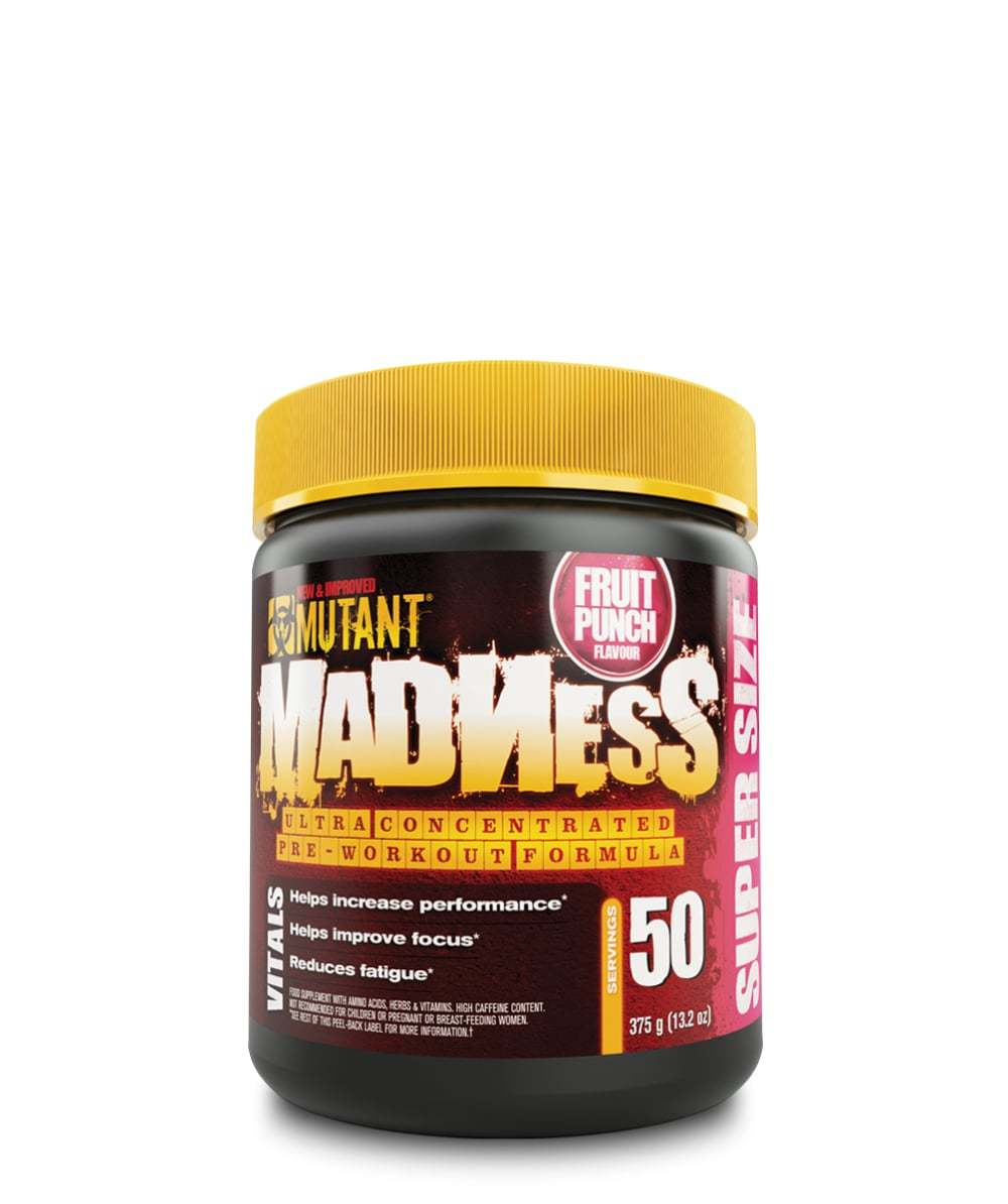Mutant Madness Pre-Workout - Fruit Punch (375g) image
